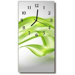 Zegar szklany pionowy sztuka abstrakcyjne linie zielony marki Tulup.pl