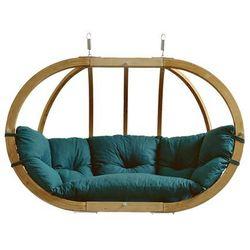 Fotel hamakowy dwuosobowy drewniany, Zielony Globo Royal Chair