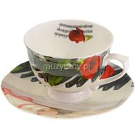 Zebra Music Filiżanka porcelanowa 250ml z motywem fortepianu