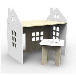Drewniane biurko białe wyprodukowany przez Planeco
