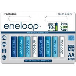 Panasonic Eneloop Ocean Colors AA 1900 mAh 2100 cykli 8szt. - edycja limitowana - produkt z kategorii- Akumulatory dedykowane