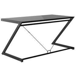biurko DD Z-Line Main Desk Czarny stelaż/czarne szkło