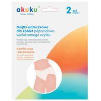 AKUKU A0234 2szt L Wielorazowe majtki poporodowe siateczkowe