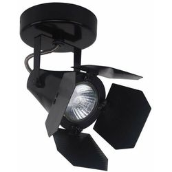 Studyjna LAMPA projektor MILTON FH30921B Italux metalowy SPOT reflektorowa OPRAWA sufitowa KINKIET czarny