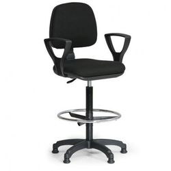 B2b partner Podwyższone krzesło milano z podłokietnikami - czarne
