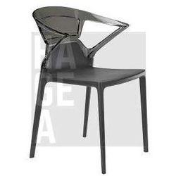Designerskie krzesło go hotelowego ogrodu Ego K Papatya szaro-czarne - produkt z kategorii- Krzesła ogrodowe