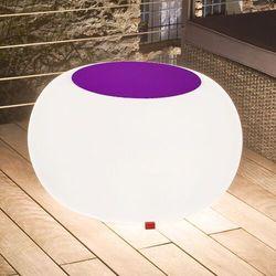 Moree Stół bubble, białe światło i fioletowy filc