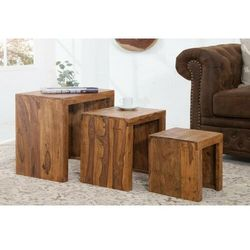 Sofa.pl Invicta zestaw stolików madeira sheesham - lite drewno palisander