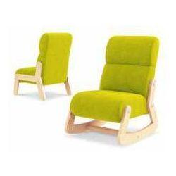 Fotelik fun simple z zagłówkiem zielony marki Timoore