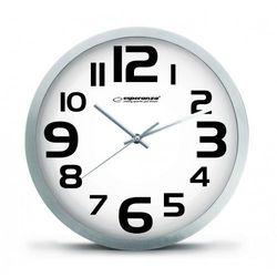 Esperanza zegar ścienny zurich biały (ehc013w) darmowy odbiór w 21 miastach! (5901299929902)