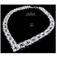 Arande Naszyjnik swarovski ślubny crystal helix srebro