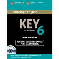 Cambridge English Key (KET) 6 Self-Study Pack (Student's Book (podręcznik) with Answers & Audio CD) (97811076
