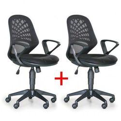Krzesło biurowe Fler 1+1 Gratis, czarny