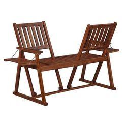 Drewniana ławka ogrodowa Lucas - brązowa