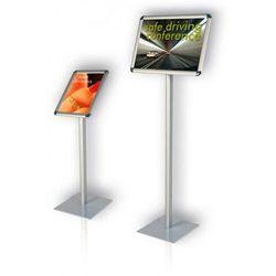 2x3 Tablica informacyjna na stojaku classic pozioma a4(297x210mm) wys. 80cm