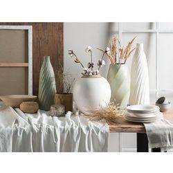 Beliani Wazon dekoracyjny 54 cm biały florentia