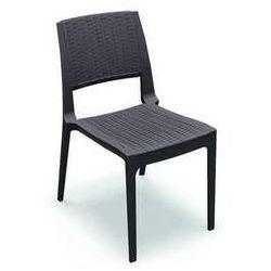 Krzesło ogrodowe z technorattanu do restauracji Verona Siesta brązowe