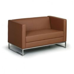 Sofa cueb, 2-miejscowa, brązowy marki B2b partner