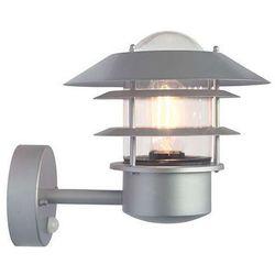 Zewnętrzna LAMPA ścienna HELSINGOR PIR HELSINGOR PIR Elstead elewacyjna OPRAWA ogrodowa IP44 z czujnikiem ruchu outdoor srebrna (5024005263319)