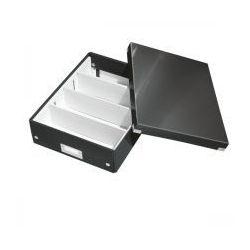 Pudło z przegródkami LEITZ C&S średnie czarne, ES1149-2