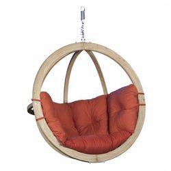 Fotel wiszący drewniany - Bubble Wood Red