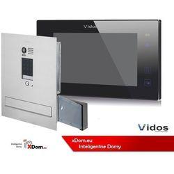 Vidos zestaw wideodomofonu skrzynka na listy z szyfratorem monitor 7 cali s1401d-skm+m1021b