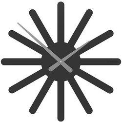 Zegar ścienny Asterix CalleaDesign czarny, kolor czarny