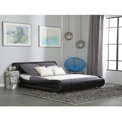Łóżko czarne 180 x 200 cm skóra ekologiczna AVIGNON