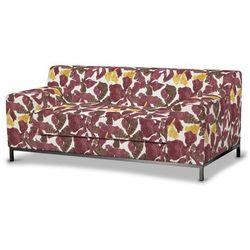 pokrowiec na sofę kramfors 2-osobową, żółto-brązowe kwiaty, sofa kramfors 2-osobowa, wyprzedaż do -30% marki Dekoria