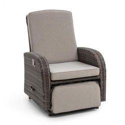 Blumfeldt comfort siesta luxury fotel ogrodowy regulowane oparcie podnóżek ciemnoszary