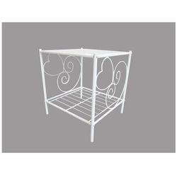 Romantyczny stolik nocny vivian 1 blat - metal - biały marki Vente-unique.pl