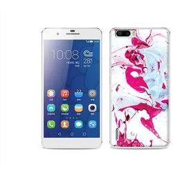 Fantastic Case - Huawei Honor 6 Plus - etui na telefon Fantastic Case - różowy marmur (Futerał telefoniczny