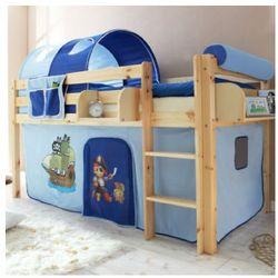 Ticaa łóźko piętrowe malte sosna naturalny - pirat jasnoniebieski/ciemnoniebieski, marki Ticaa kindermöbel