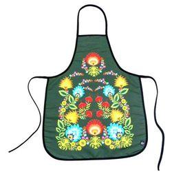 Fartuszek kuchenny z nadrukiem ludowym - kwiaty łowickie (2) marki Pracownia artystyczna