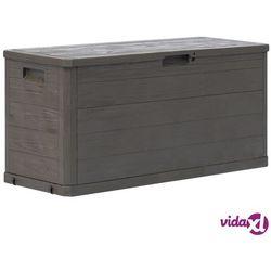 vidaXL Skrzynia ogrodowa, 280 L, brązowa