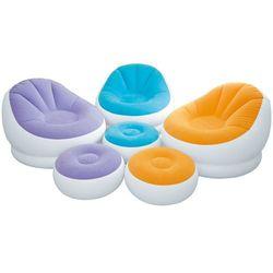 Fotel dmuchany z podnóżkiem pomarańczowy 104 x 109 x 71 cm INTEX 68572 - Pomarańczowy (6941057465722)