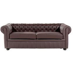 Sofa skórzana brązowa chesterfield marki Beliani