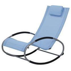 Fotel ogrodowy bujany niebieski CAMPO (4251682217644)