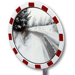 Dancop Lustro drogowe ze szkła akrylowego, okrągła, wym. lustra Ø 800 mm. powierzchnia