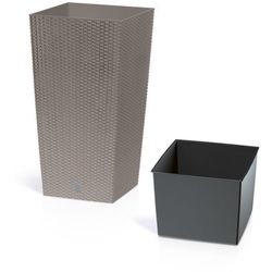 Donica PROSPERPLAST Rato Square DRTS325 mocca - produkt z kategorii- Doniczki i podstawki