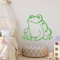 Wally - piękno dekoracji Szablon na ścianę dla dzieci żabka 2390