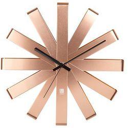 Umbra - zegar ścienny ribbon miedziany