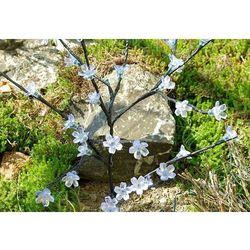 Lampa solarna 36 led do ogrodu kwiat,krzew biały marki 1