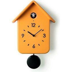 Zegar z kukułką QQ żółty, kolor żółty