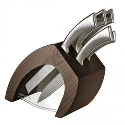 TRATTORIA Blok noży jasne drewno + 5 noży Ergo CIEMNY BLOK