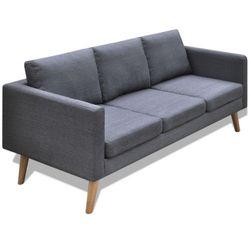 ciemno szara 3 osobowa, materiałowa sofa wyprodukowany przez Vidaxl