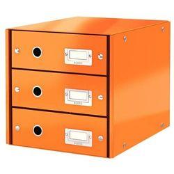 Pojemnik Leitz Click&Store z 3 szufladami pomarańczowy 60480044, BP819986