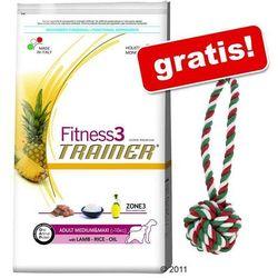12,5 kg Trainer + Świąteczna piłka na sznurku dla psa, Ø 9 cm gratis! - Trainer Fitness 3 Adult Medium/Maxi, jagnięcina i ryż, 12,5 kg, kup u jednego z partnerów
