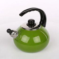 Czajnik SILESIA Emaliowany Zielony