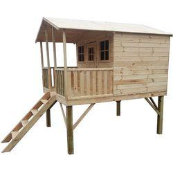 Drewniany domek ogrodowy dla dzieci gucio bez ślizgu marki 4iq